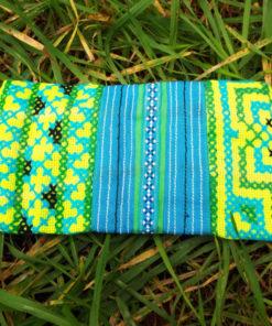 Tobacco Pouch Cotton Handmade Aztec Fabric Case Pocket Hand Stitched Hippie Boho καπνοθήκη