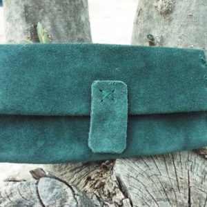 Tobacco Pouch Leather Case Handmade Genuine Suede Leather Smoking Rolling Cigarettes Pocket