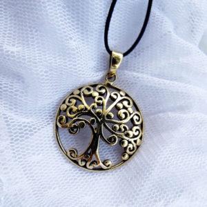 Tree of Life Celtic Pendant Protection Gustav Klimt Tree Handmade Necklace Gothic Dark Jewelry Symbol Bronze