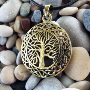 Tree of Life Celtic Pendant Protection Handmade Necklace Gothic Dark Jewelry Symbol Bronze