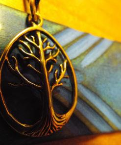 Tree of Life Pendant Bronze Celtic Necklace Handmade Jewelry Symbol