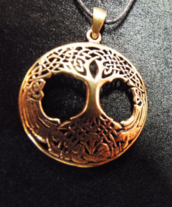 Tree of Life Pendant Celtic Knotted Necklace Handmade Bronze Symbol Jewelry