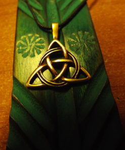 Triquetra Pendant Symbol Celtic Magic Handmade Bronze Jewelry Necklace 2