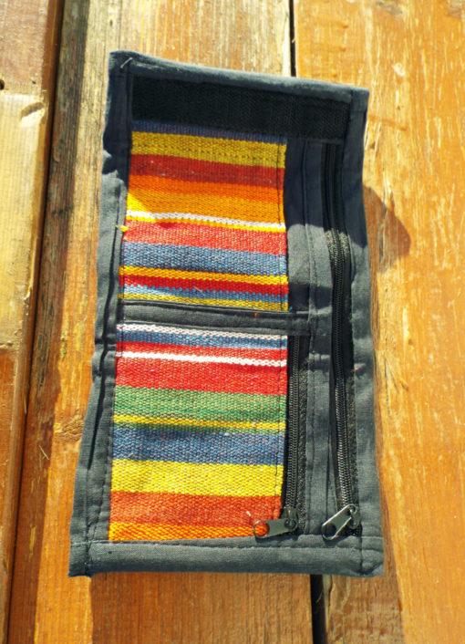 Wallet Handmade Purse Pouch Unisex Pure Cotton Hippie Bohemian Striped