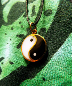 Yin Yang Chinese Symbol Pendant Protection Necklace Handmade Jewelry Bronze