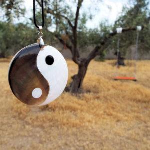 Yin Yang Pendant Handmade Abalone Necklace Chinese Asian Symbol Jewelry Good and Evil