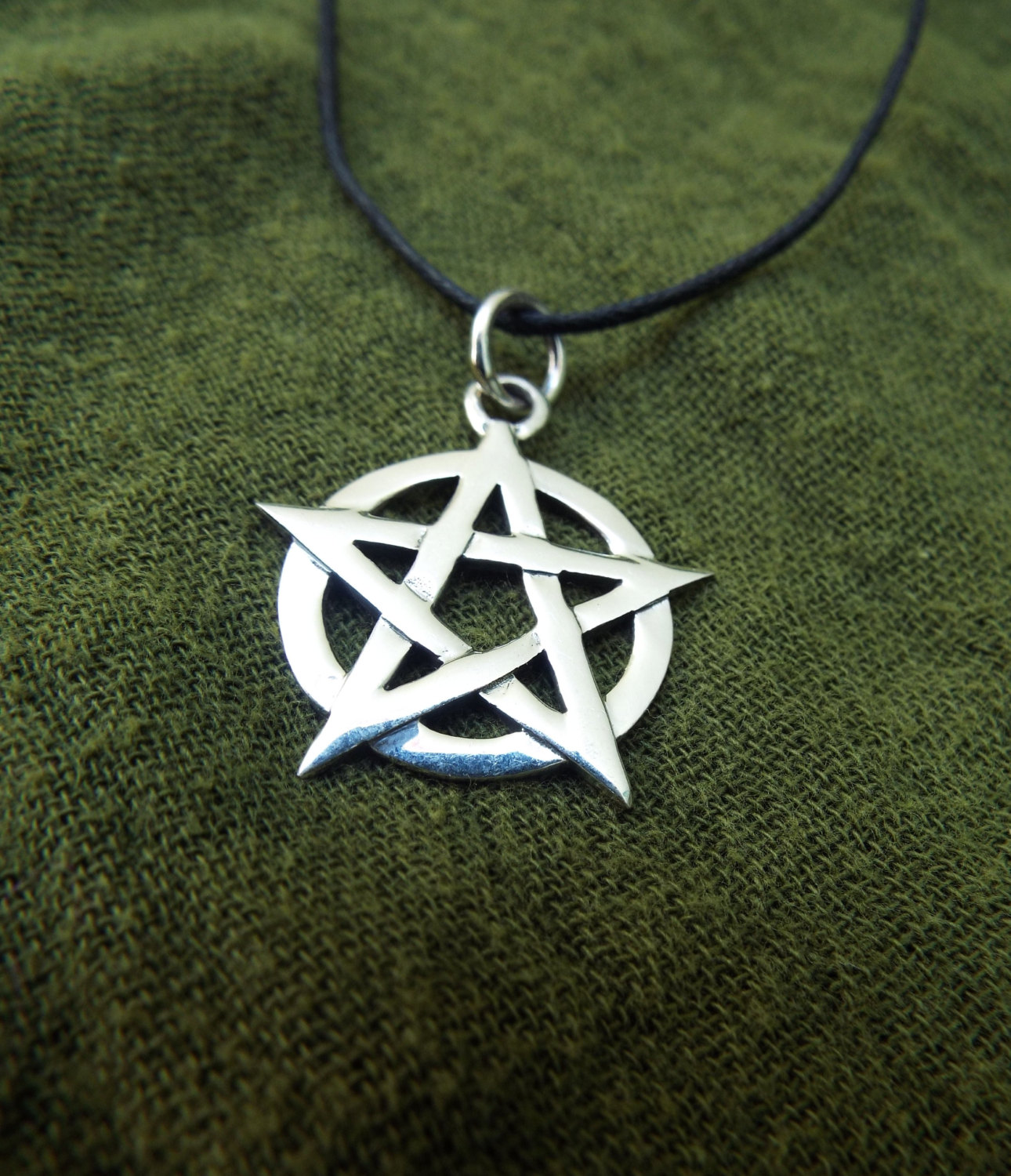Sterling silver pentagram pendant pentagram pendant handmade silver sterling 925 necklace gothic wiccan magic pagan protection jewelry 2 aloadofball Choice Image