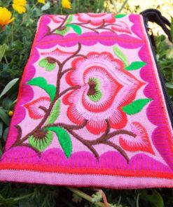 Wallet Handmade Purse Flower Pouch  Floral Pure Cotton Hippie Bohemian
