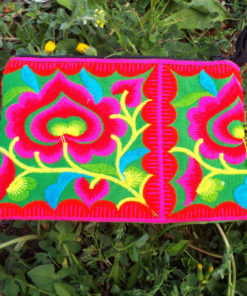 Wallet Handmade Purse Flower Pouch  Floral Pure Cotton Hippie Bohemian