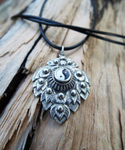 Yin Yang Pendant Silver Handmade Sterling 925 Necklace Chinese Asian Symbol Jewelry Good and Evil