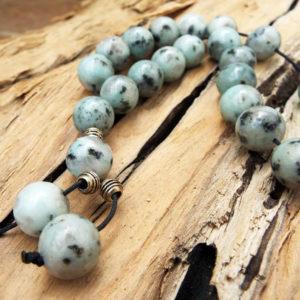 Komboloi Greek Worry Beads Amazonite Prayer Beads Rosary Beads Turkish Tasbih Handmade Gemstone