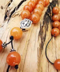 Komboloi Greek Worry Beads Aventurine Red Prayer Beads Rosary Beads Turkish Tasbih Handmade Gemstone