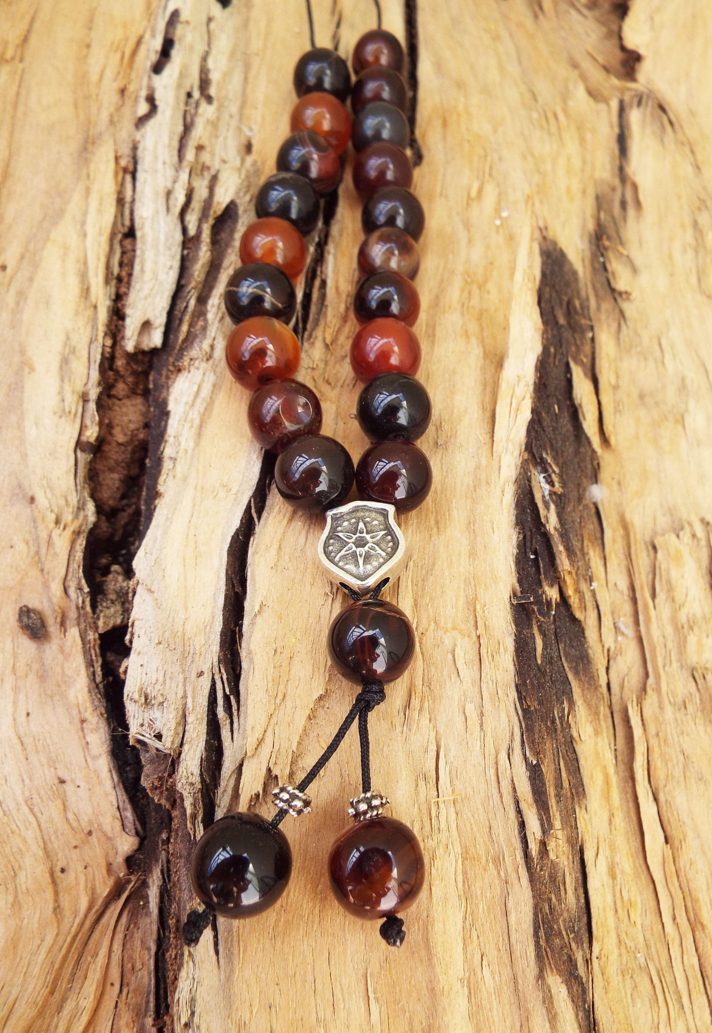 Komboloi Greek Worry Beads Carnelian Agate Prayer Beads Rosary Beads Turkish Tasbih Handmade Gemstone