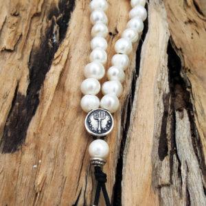 Komboloi Greek Worry Beads  Saltwater Pearl Prayer Beads Rosary Beads Turkish Tasbih Handmade Gemstone