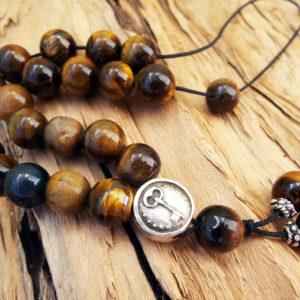 Komboloi Greek Worry Beads Tiger's Eye Prayer Beads Rosary Beads Turkish Tasbih Handmade Gemstone