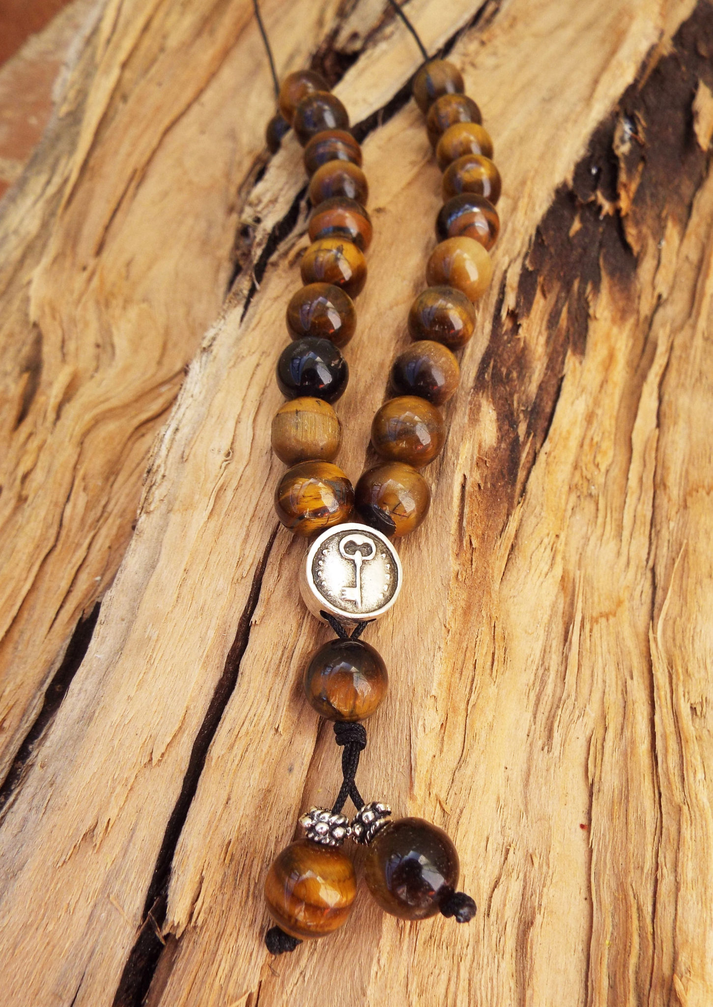 Komboloi Greek Worry Beads Tiger's Eye Prayer Beads Rosary Beads Turkish Tasbih Handmade Gemstone