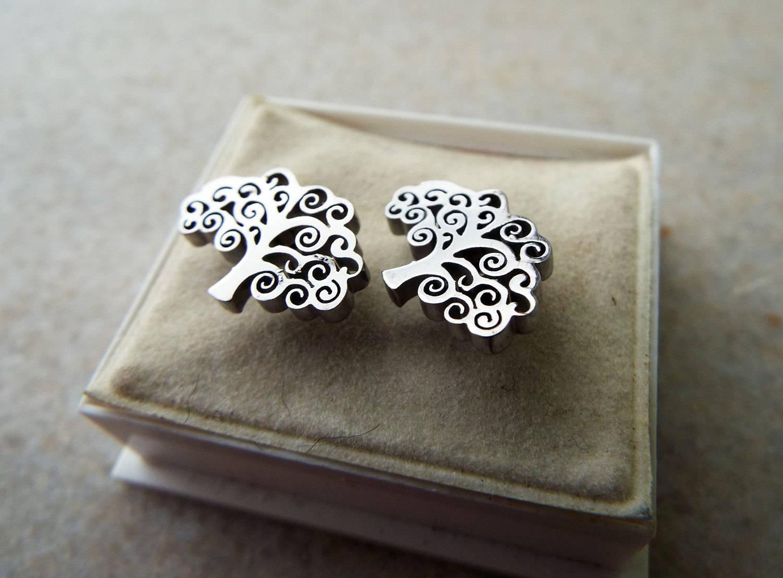 Tree Of Life Stud Earrings Celtic Symbol Handmade Jewelry