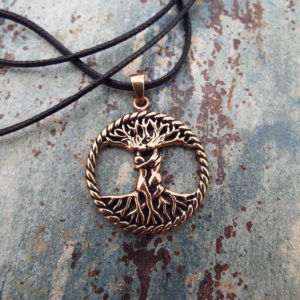 Tree of Life Love Pendant Handmade Necklace Celtic Jewelry Symbol Copper