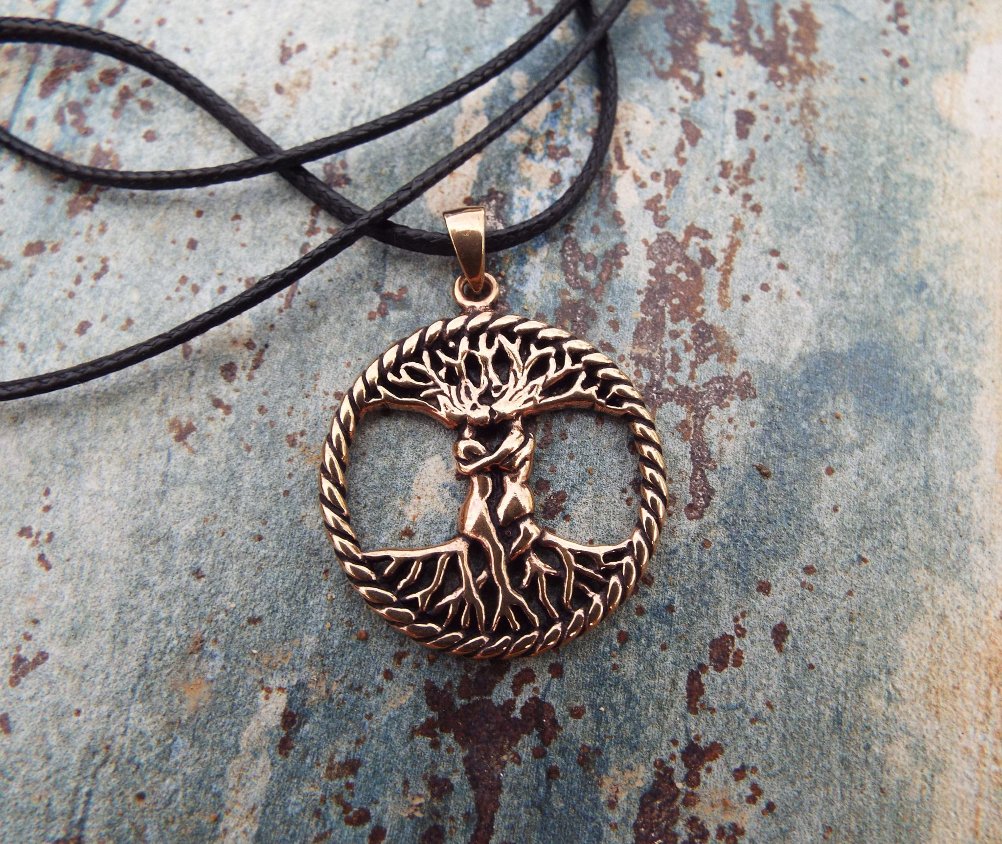 Tree of Life Love Pendant Handmade Necklace Celtic Jewelry Symbol Copper