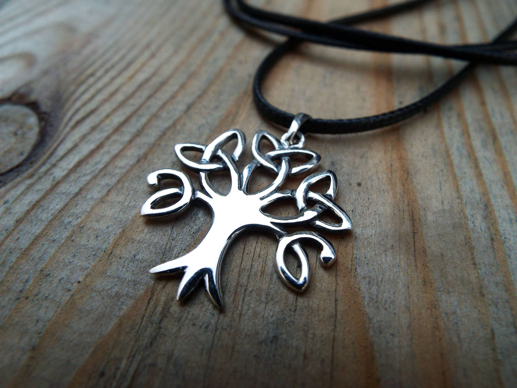 Tree Of Life Pendant Sterling Silver Handmade Necklace