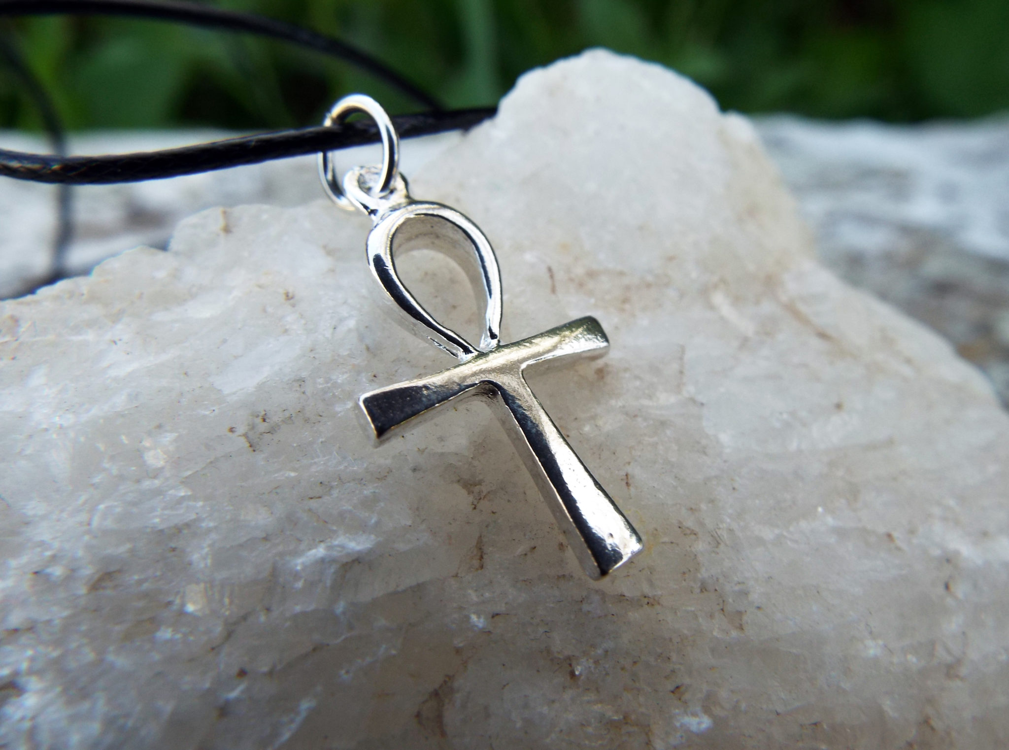 Sterling Silver Ankh Pendant Egyptian Symbol Jewelry